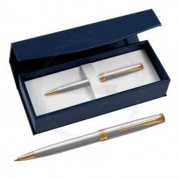 Długopis Parker Sonnet Stalowy GT w granatowym pudełku [1931507/2]Długopis Parker Sonnet Stalowy GT w granatowym...