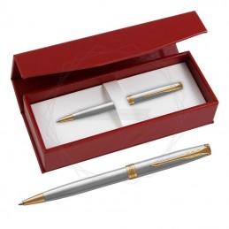 Długopis Parker Sonnet Stalowy GT w czerwonym pudełku [1931507/3]Długopis Parker Sonnet...