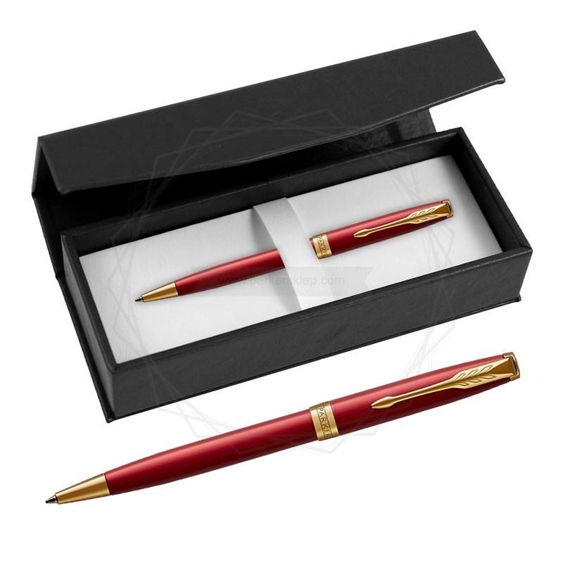 Długopis Parker Sonnet Czerwona Laka GT w czarnym pudełku [1931476/1]