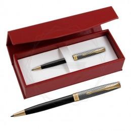 Długopis Parker Sonnet Cisele Srebro i Czerń GT w czerwonym pudełku [1931540/3]Długopis Parker Sonnet...