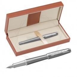 Pióro wieczne Parker Urban Premium Silvered Powder CT w brązowym pudełku [1931595/11]Pióro wieczne Parker Urban...