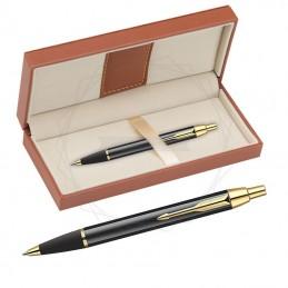 Długopis Parker IM Czarny GT w brązowym pudełku [S0856440/11]Długopis Parker IM Czarny...