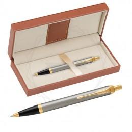 Długopis Parker IM Brushed Metal GT w brązowym pudełku [1931670/11]Długopis Parker IM Brushed...
