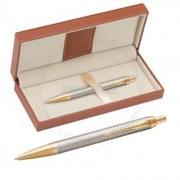Długopis Parker IM Premium Warm Grey GT w brązowym pudełku [1931687/11]Długopis Parker IM Premium Warm Grey GT w...