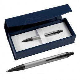 Długopis Parker IM Achromatic Srebrny w granatowym pudełku [2127752/2]Długopis Parker IM Achromatic Srebrny w...