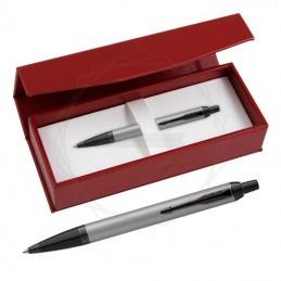 Długopis Parker IM Achromatic Srebrny w czerwonym pudełku [2127752/3]Długopis Parker IM Achromatic Srebrny w...