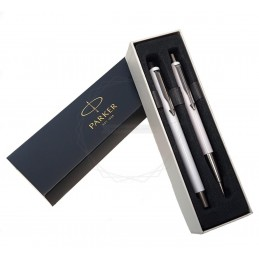 Długopis Vector + Pióro wieczne Parker białe [DUOVECTOR3]Długopis Vector + Pióro wieczne Parker białe...