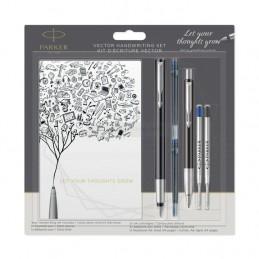 Długopis Vector + Pióro wieczne Parker czarne [DUOVECTOR6]Długopis Vector + Pióro wieczne Parker czarne...