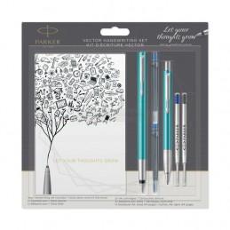 Długopis Vector + Pióro wieczne Parker turkusowe [DUOVECTOR7]Długopis Vector + Pióro wieczne Parker...