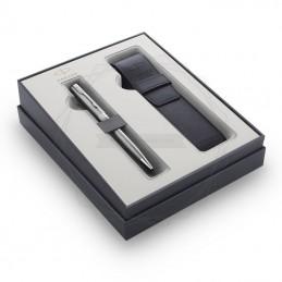Zestaw Prezentowy Parker Długopis Sonnet Stalowy CT + etui [2121992]Zestaw Prezentowy Parker Długopis Sonnet...