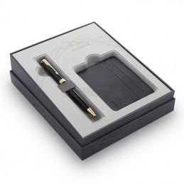 Zestaw Prezentowy Parker Długopis Sonnet Czarny GT + etui na karty [2121995]Zestaw Prezentowy Parker Długopis Sonnet Czarny...