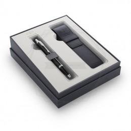 Zestaw Prezentowy Parker Długopis IM Czarny CT + etui [2122003]Zestaw Prezentowy Parker Długopis IM Czarny CT...