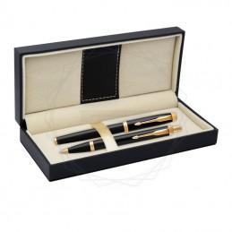 Długopis IM + Pióro Wieczne IM Parker Czarne GT [DUOIM2]Długopis IM + Pióro Wieczne IM Parker Czarne GT...