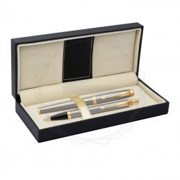 Długopis IM + Pióro Wieczne IM Parker srebrne GT [DUOIM5]Długopis IM + Pióro Wieczne IM Parker srebrne...