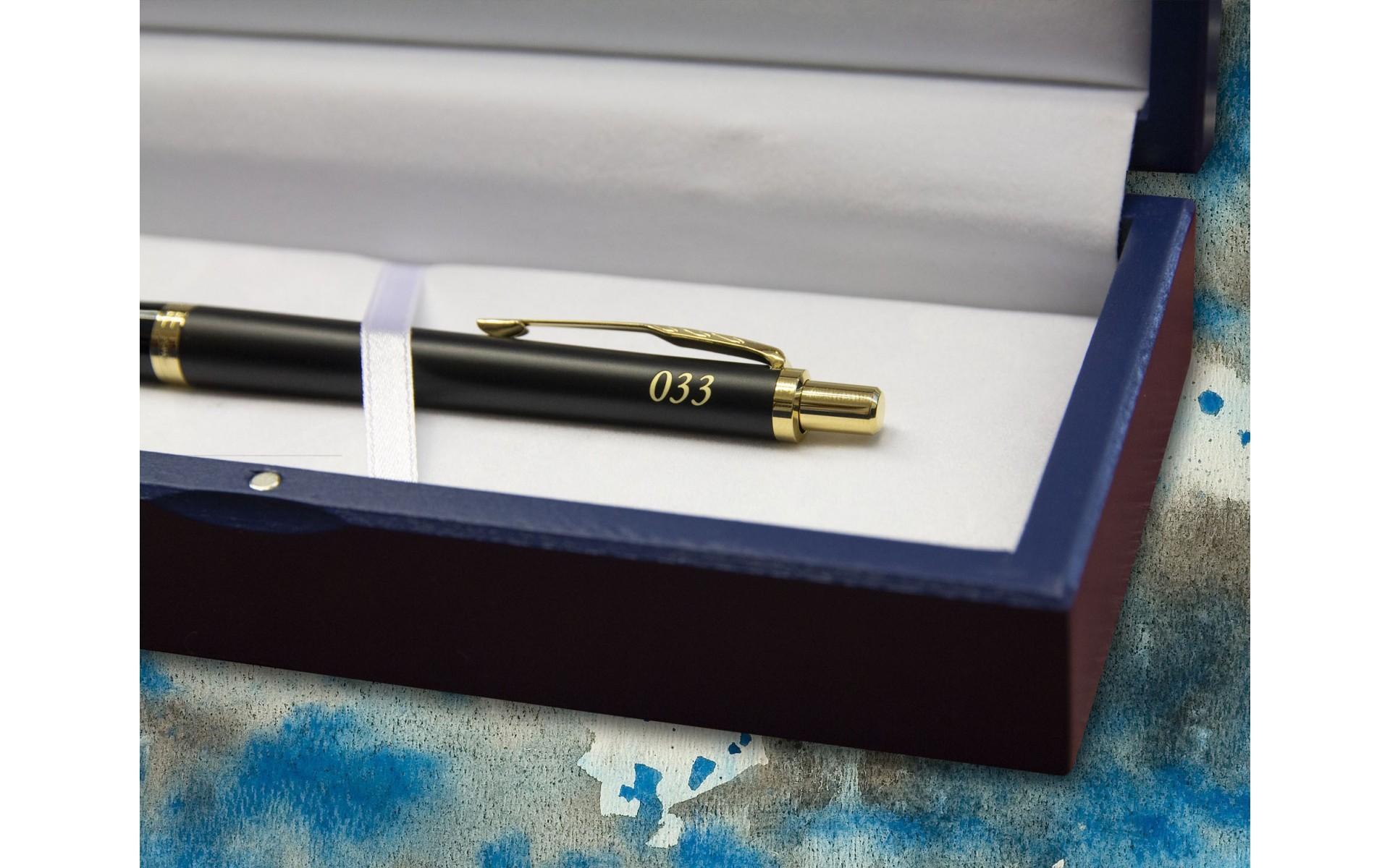 Długopis Parker Urban Muted Black GT [1931576] z wygrawerowanym numerem 33