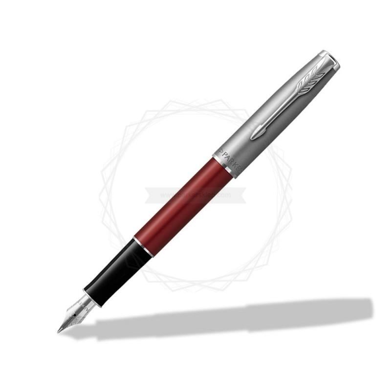 Pióro wieczne Parker Sonnet Sand Blasted Metal Czerwone [2146736]