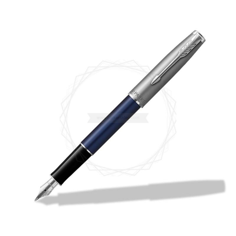 Pióro wieczne Parker Sonnet Sand Blasted Metal Niebieskie [2146747]