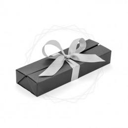 Pudełko prezentowe srebrne z wstążką [19614-00]Pudełko prezentowe srebrne z wstążką [19614-00]