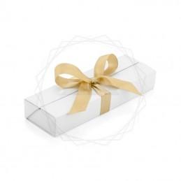 Pudełko prezentowe białe ze złotą wstążką [19615-24]Pudełko prezentowe białe ze złotą wstążką...