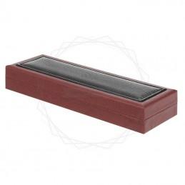 Brązowe pudełko prezentowe z czarną skórą ECO [P0200]Brązowe pudełko prezentowe z czarną skórą ECO...