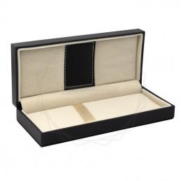 Czarne pudełko prezentowe ze skóry ekologicznej [P0201]Czarne pudełko prezentowe ze skóry ekologicznej...
