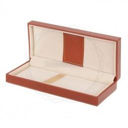 Brązowe pudełko prezentowe ze skóry ekologicznej [P0198]Brązowe pudełko prezentowe ze skóry...