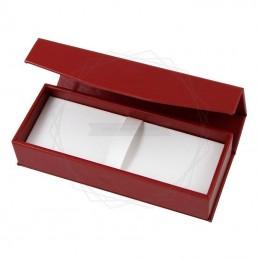 Pudełko prezentowe ze skóry ekologicznej czerwone [P0191]Pudełko prezentowe ze skóry ekologicznej...