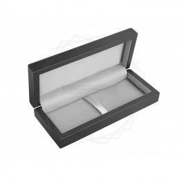Drewniane, czarne matowe pudełko prezentowe [P0205]Drewniane, czarne matowe pudełko prezentowe...