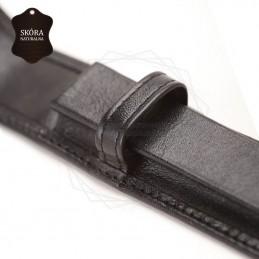 Skórzane etui na pojedyńczy produkt w kolorze czarnym [E00135]