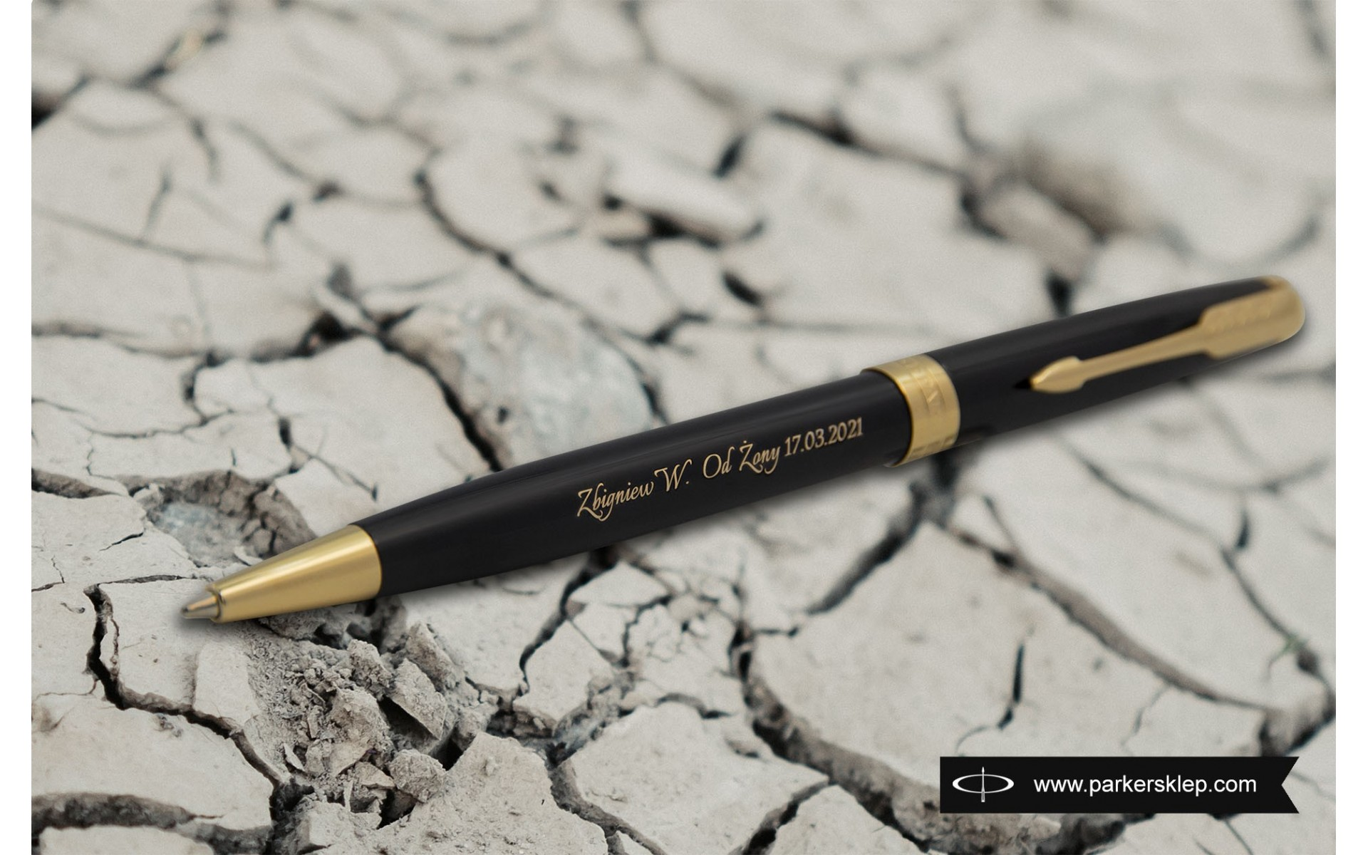 Długopis Parker Sonnet Czarna Laka GT [1931497] z grawerem