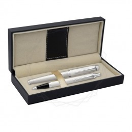 Długopis IM + Pióro Wieczne IM Parker Białe CT [DUOIM8]Długopis IM + Pióro Wieczne IM Parker Białe CT...
