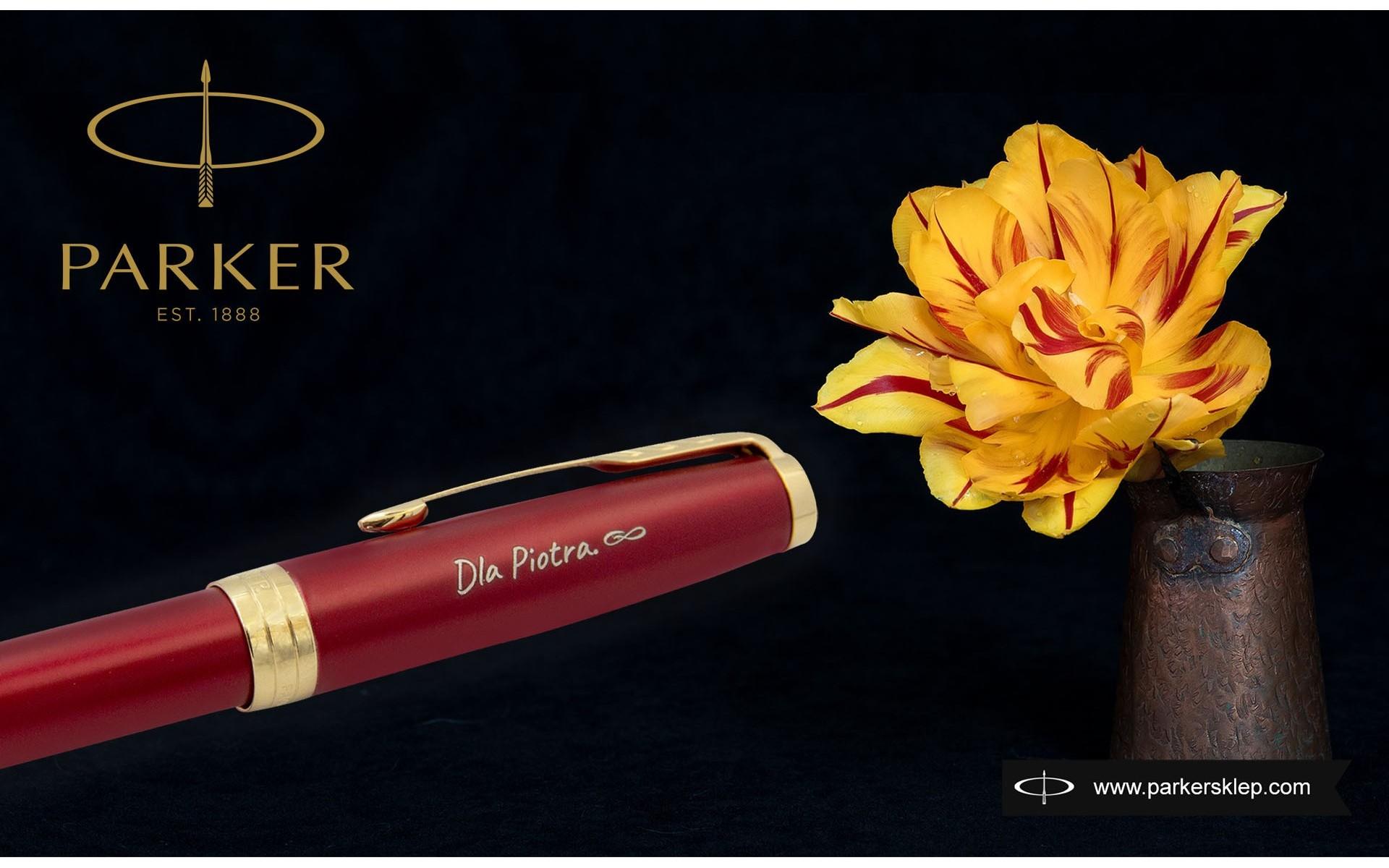 Pióro wieczne Parker Sonnet Czerwona Laka GT [1931473] z grawerem