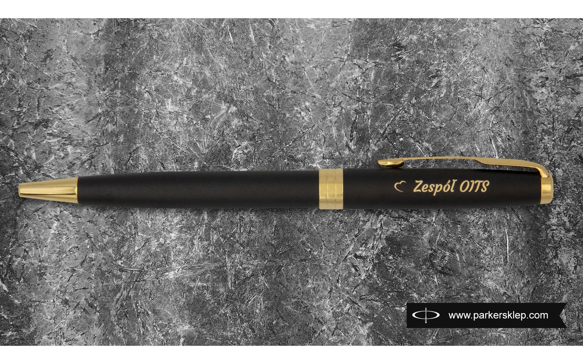 Długopis Parker Sonnet Czarny Matowy GT [1931519] z grawerem