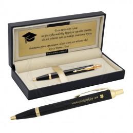 Zestaw - Długopis Parker IM Czarny GT z grawerem i tabliczkąZestaw - Długopis Parker IM Czarny GT z...