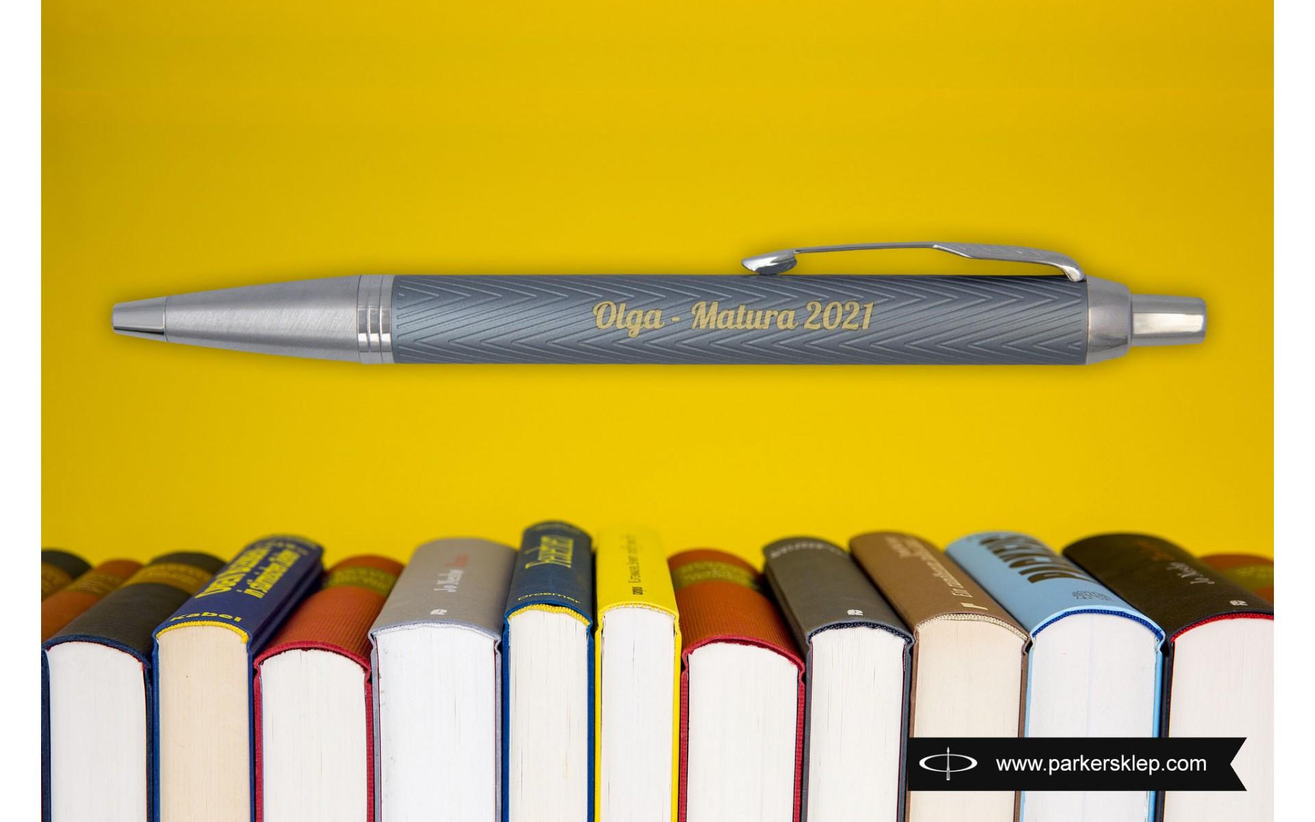 Długopis Parker IM Premium Niebiesko Szary CT [2143645] z grawerem