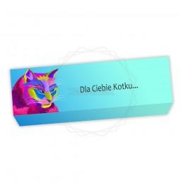 Obwoluta na pudełko kolorowy kot [O021]Obwoluta na pudełko...