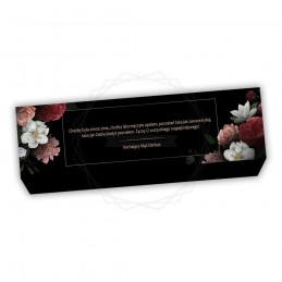 Obwoluta na pudełko z kwiatami [O022]Obwoluta na pudełko z...