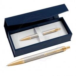 Długopis Parker IM Premium Warm Grey GT w granatowym pudełku [1931687/2]Długopis Parker IM Premium Warm Grey GT w...