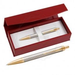Długopis Parker IM Premium Warm Grey GT w czerwonym pudełku [1931687/3]Długopis Parker IM Premium...