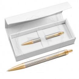 Długopis Parker IM Premium Warm Grey GT w białym pudełku [1931687/4]Długopis Parker IM Premium...