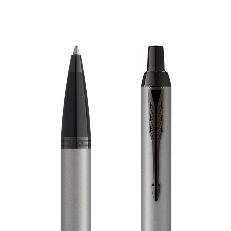 Długopis Parker IM Achromatic Srebrny [2127752] w przekroju