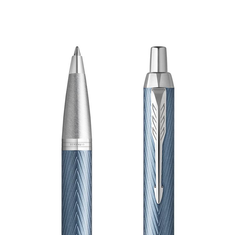 Długopis Parker IM Premium Niebiesko Szary CT [2143645] w przekroju