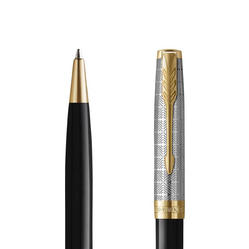 Długopis Parker Sonnet Metal & Black GT [2119787] w przekroju