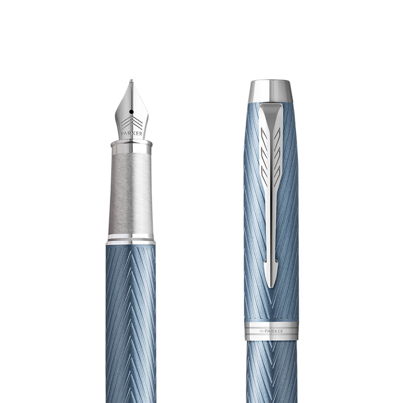Pióro wieczne Parker IM Premium Niebiesko Szare CT [2143651] w przekroju