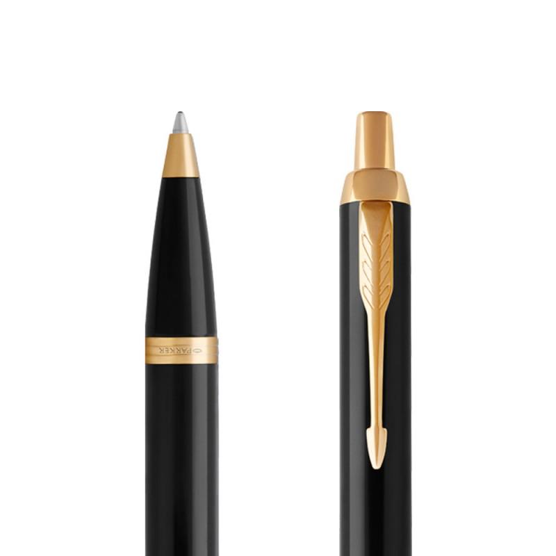 Długopis Parker IM Czarny GT w przekroju