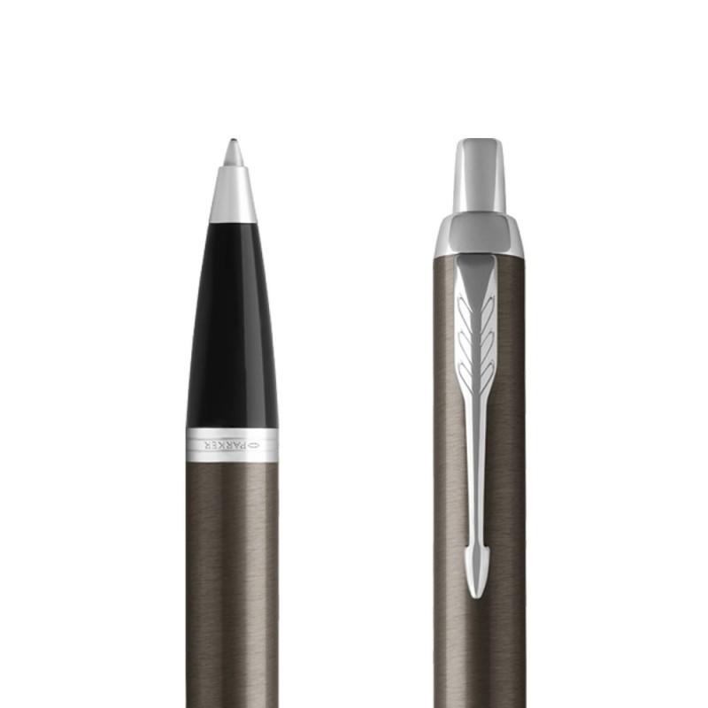 Długopis Parker IM Dark Espresso CT w przekroju