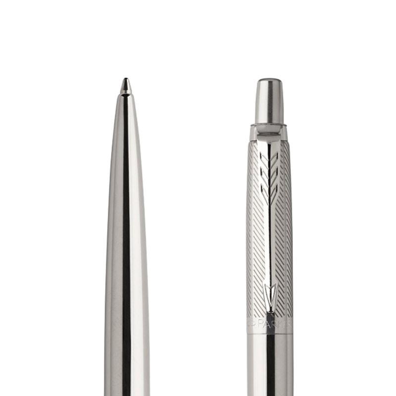 Długopis Parker Jotter Premium Stalowy Diagonal CT w przekroju
