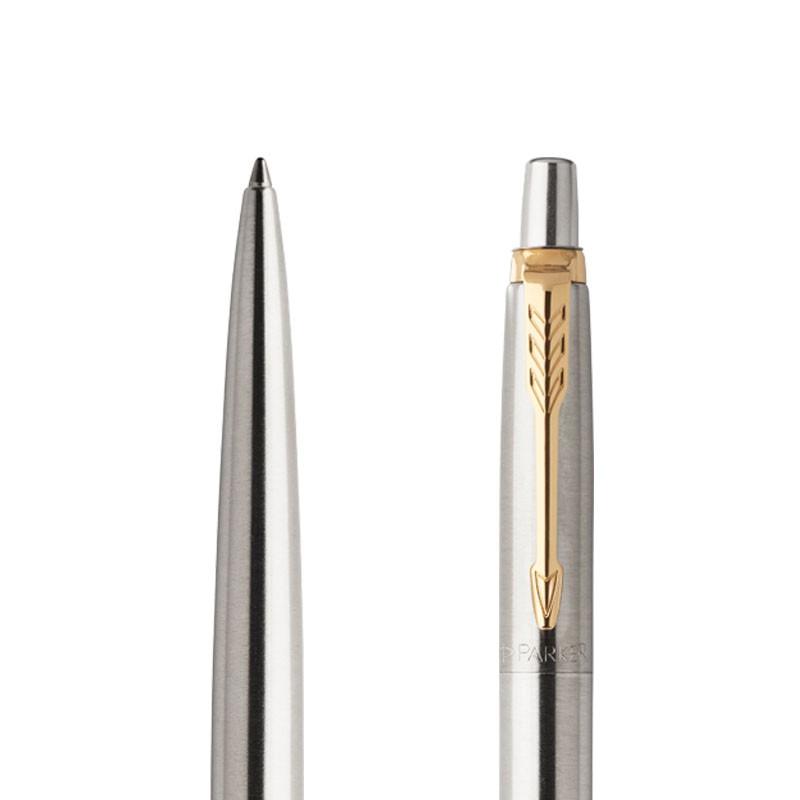 Długopis Parker Jotter Stalowy Matowy GT w przekroju