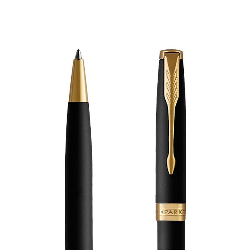 Długopis Parker Sonnet Czarny Matowy GT w przekroju