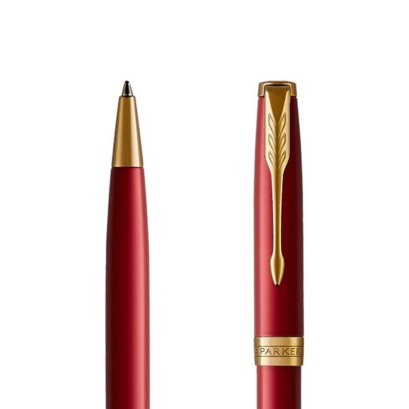 Długopis Parker Sonnet Czerwona Laka GT w przekroju